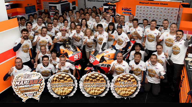 Η Hondaκατακτά το 2ο συνεχόμενο τίτλο MotoGP Triple Crown.